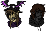 Busts for XxTheMadHouseXwX by CNena