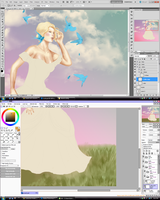 sai and ps wips by Seraphoid
