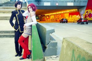 Lelouch and Kallen by Pandora-Hazel