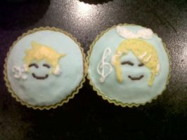 Rin and Len cupcakes by niksqiky