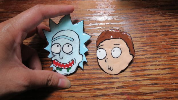 Rick and Morty Pins! by TheWorksOfDarkNebula