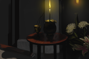 Still Life With Candles by kingaby