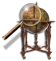 Steampunk Network Globe Icon by yereverluvinuncleber