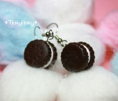 oreo cookies earrings by tinkypinky