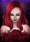 The darkness has come to the roses by cowgirlem