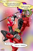 Harley Quinn and Deadpool by DR-Studios