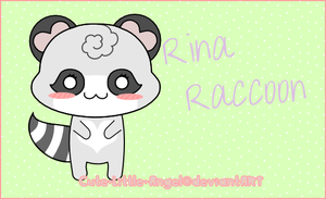 Rina Raccoon by Cute-Little-Angel