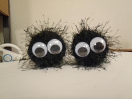 Crocheted Soot Balls by DearAngelTori
