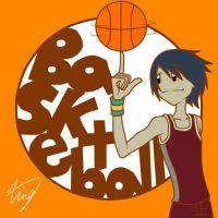 Sport Badge-Basketball Ian by Xing-2-Lee