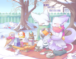 Backyard Winter Picnic by Cuney