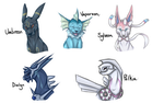 Pokemon Sketches 1 by therealtwilightstar