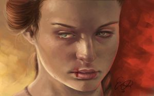 Sansa's hatred by Enmie