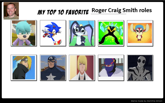 My Top 10 Favorite Roger Craig Smith Roles by ajpokeman