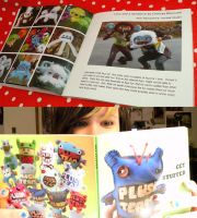 My pages inthe Plush Team book by loveandasandwich