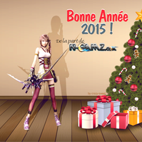 Square Enix Christmas Card by Crazy-Sweet