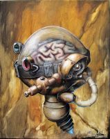 Steam-punk Brain by Jonboyhoffman
