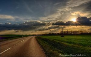 Evening, on the way home.  Hungary.  HDR. by magyarilaszlo