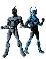 The Guyver and Blue Beetle by phil-cho