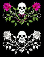 Gothic Skull T-shirt Designs by Quicksilverfury