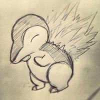 Cyndaquil by SquidPup