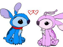 Stitch and Angel by TwitchyTail