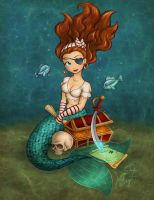 Mermaid Pirate by enigmawing
