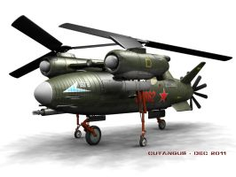SOVIET ATTACK HELICOPTER by CUTANGUS