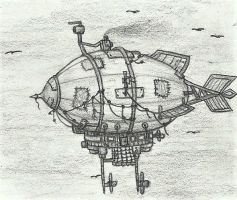 Steampunk Zeppelin by kicuka