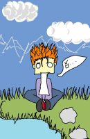da orange hair kid XD by meku