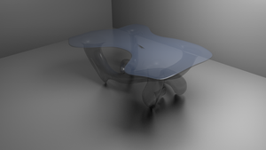 Speed model glass table by aerox21
