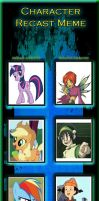 My Little Pony Character Recast by SithVampireMaster27