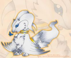 Chibi Shiny Reshiram by MadArtistParadise