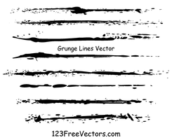 Grunge Lines Vector Illustrator by 123freevectors