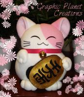 Manekineko - Lucky Cat Pink by GraphicPlanetDesigns