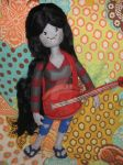 My Needle Felted Marceline and her Axe Bass by CatsFeltLings
