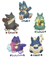 Munchlax Breeds by lurils