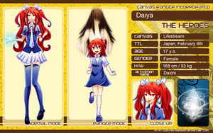 CR Character sheet - Daiya by bluemanaphy