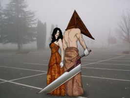 Pyramid Head and Bethany by the-peppermint-kid