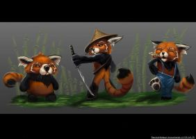 Red Pandas! by Archon0419