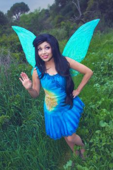 Pixie Hollow Silvermist Cosplay Costume by glimmerwood