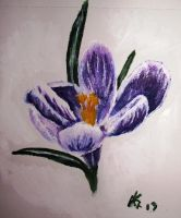 Purple Colchicum by TheGirl-WhoCouldDraw