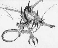 Old Detailed Dragon by Scatha-the-Worm