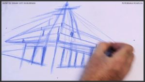 Learn how to draw city buildings 009 by drawingcourse