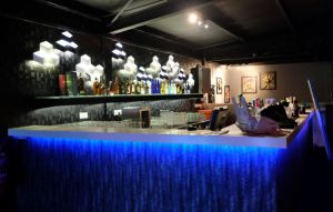 Blue bar counter by tarynsgate