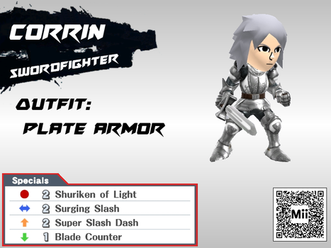 DLC Mii Fighter Recreations: Corrin (Male) by Cheatster9000x
