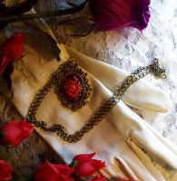 Deep red romance-necklace by Destinyfall