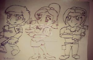 Resident Evil Outbreak Trio (Chibi version) by DavidDarkheartKing