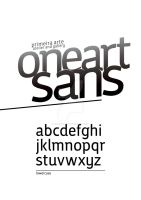 Oneart Sans _ Custom Typeface by veiartistica