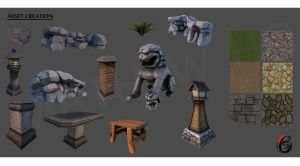 Asset Creation - 3D props and Tileable Textures by mhofever