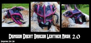 Crimson Great Dragon Mask 2.0 by Epic-Leather